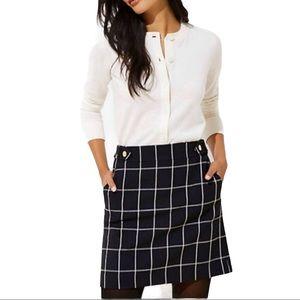 NWOT LOFT Windowpane Skirt